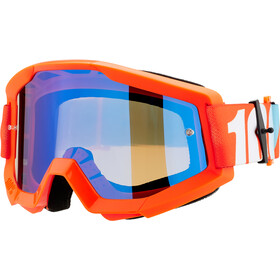 100% Strata Lunettes de protection, orange-mirror